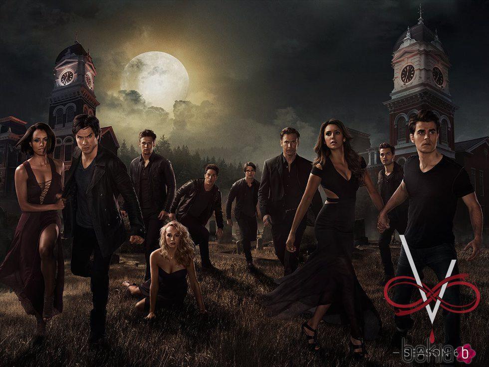Cartel de promoción de la sexta temporada de 'The vampire diaries'