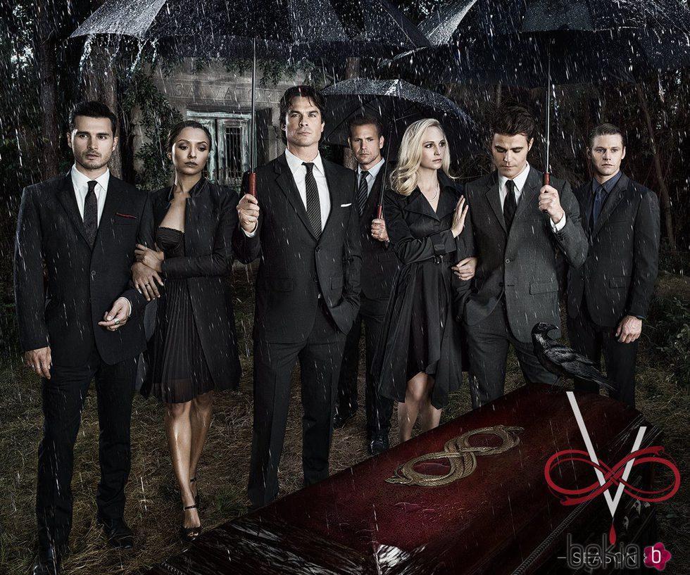 Cartel de promoción de la octava temporada de 'The vampire diaries'