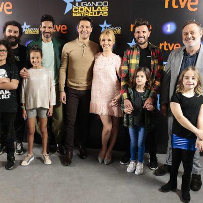 Jaime Cantizano y otras celebrities en la presentación de su nuevo programa 'Jugando con las estrellas'