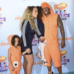 Mariah Carey, Nick Cannon y sus hijos en los Nickelodeon Kids' Choice Awards 2017
