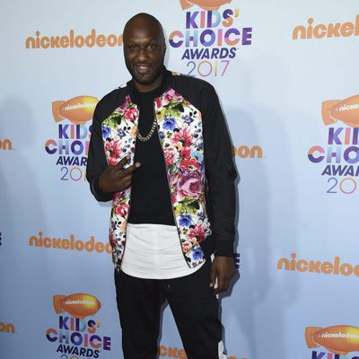 Lamar Odom en los Nickelodeon Kids' Choice Awards 2017