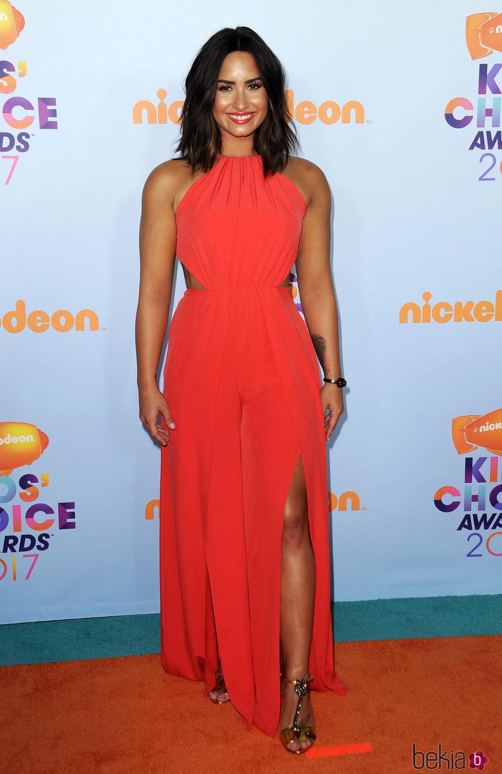 Demi Lovato en los Nickelodeon Kids' Choice Awards 2017