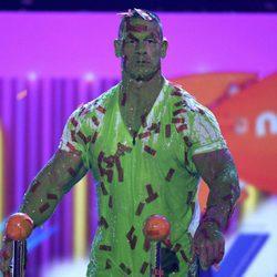 John Cena cubierto de moco verde en los Nickelodeon Kids' Choice Awards 2017