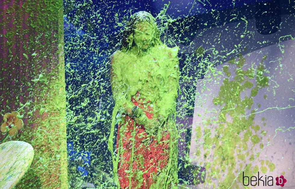 Demi Lovato cubierta de moco verde en los Nickelodeon Kids' Choice Awards 2017