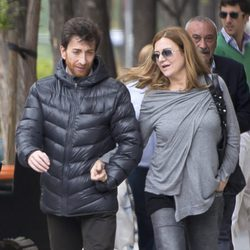 Pablo Motos y Laura Llopis dando un paseo por las calles de Madrid