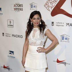 Cristina Medina en la red carpet de la XXVI edición de los Premios de la Unión de Actores