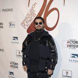 Brays Efe en la red carpet de la XXVI edición de los Premios de la Unión de Actores