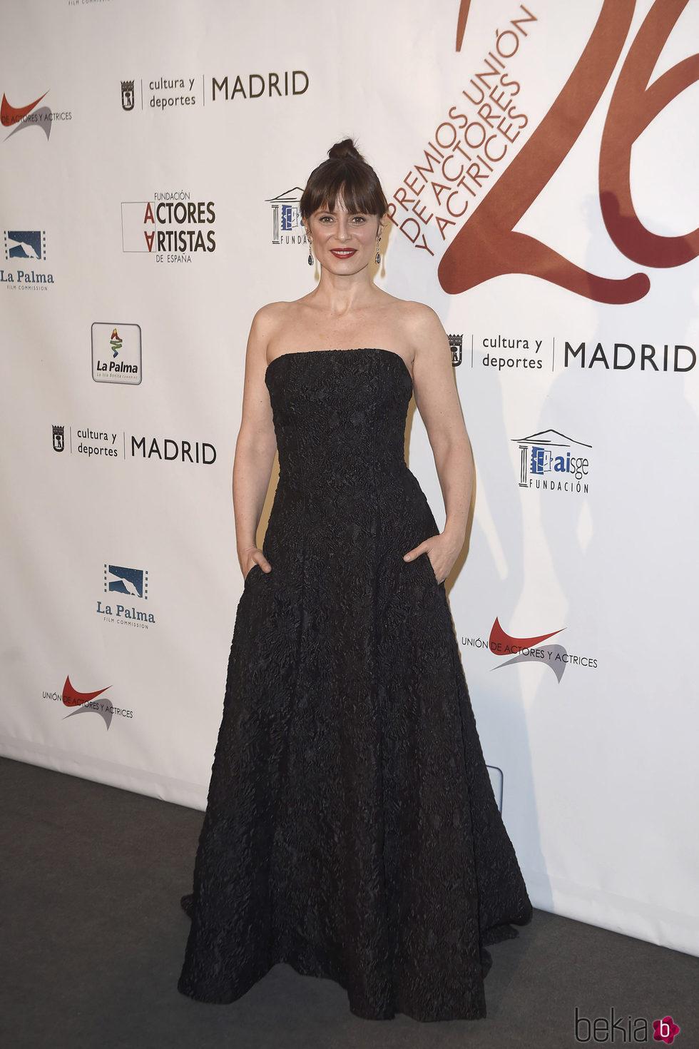 Aitana Sánchez Gijón en la red carpet de la XXVI edición de los Premios de la Unión de Actores