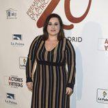 Inma Cuevas en la red carpet de la XXVI edición de los Premios de la Unión de Actores
