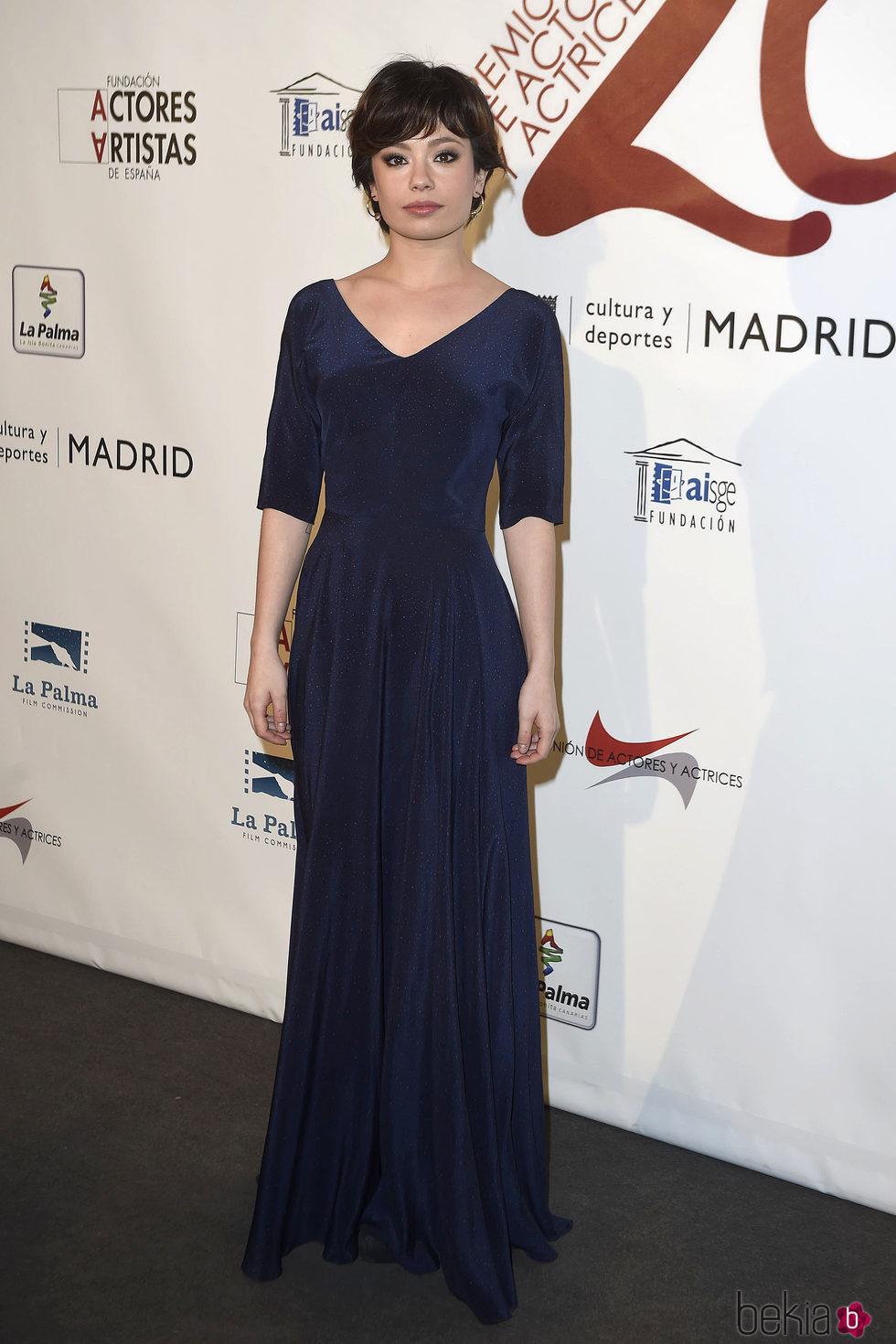 Anna Castillo en la red carpet de la XXVI edición de los Premios de la Unión de Actores