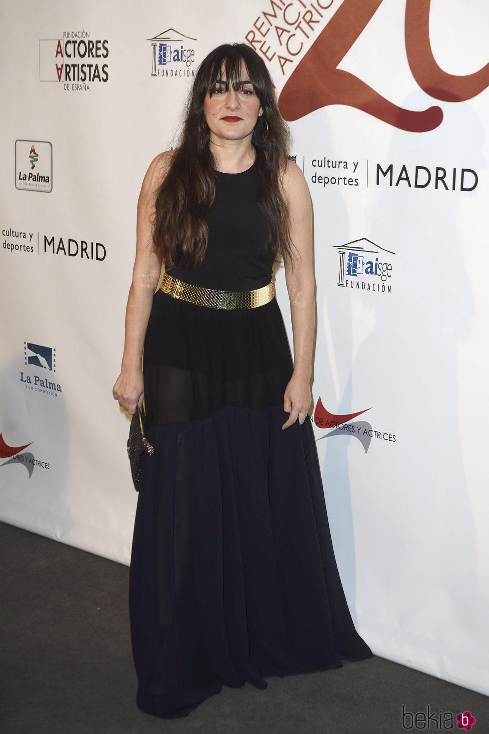 Candela Peña en la red carpet de la XXVI edición de los Premios de la Unión de Actores