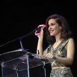 Nuria Gago con su premio de la Unión de Actores 2017