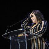 Inma Cuevas con su premio de la Unión de Actores 2017