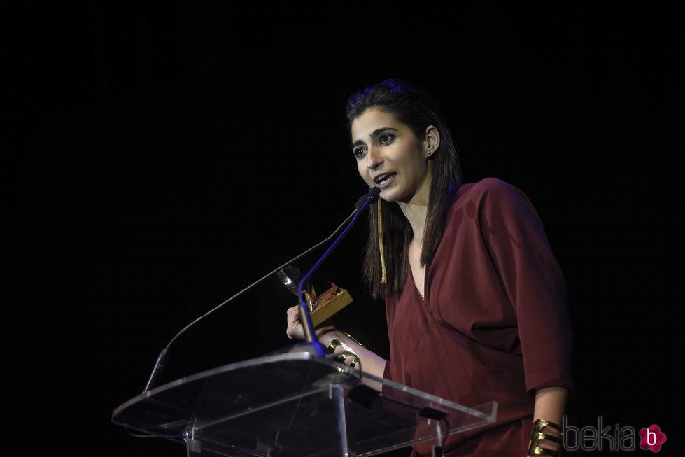 Alba Flores con su premio de la Unión de Actores 2017