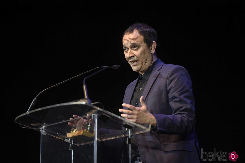 Luis Callejo con su premio de la Unión de Actores 2017