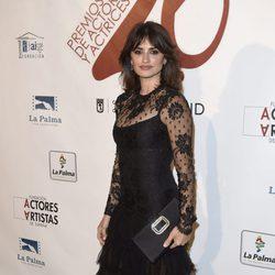 Penélope Cruz en la red carpet de la XXVI edición de los Premios de la Unión de Actores