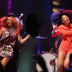 Beyoncé y Solange Knowles en el Coachella Valley Music & Arts Festival