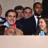 Alexandra de Hannover y su novio en el partido de Champions Mónaco-Manchester City