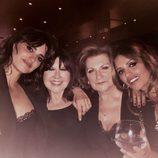 Penélope Cruz, Loles León en la fiesta de cumpleaños de Mónica Cruz acompañada de su madre Encarna