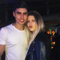 Ana Matamoros con su hermano Javier Tudela