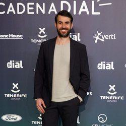 Daniel Muriel en la alfombra roja de los Premios Cadena Dial 2017