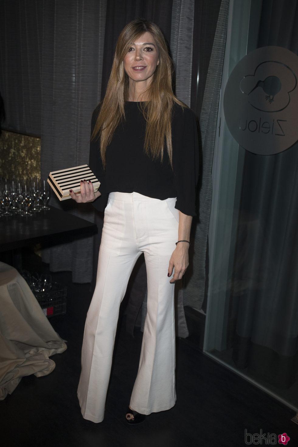 Eva Zaldívar en la fiesta de presentación de la marca de ginebra de Álex Lequio