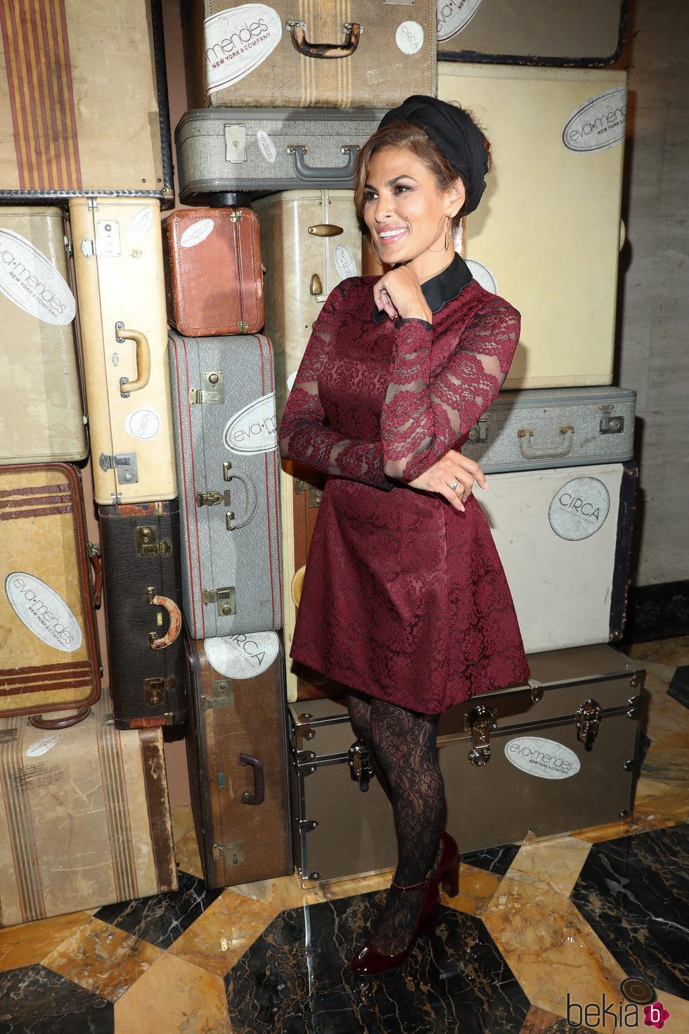 Eva Mendes presentando su nueva colección 'Nueva York & Company'