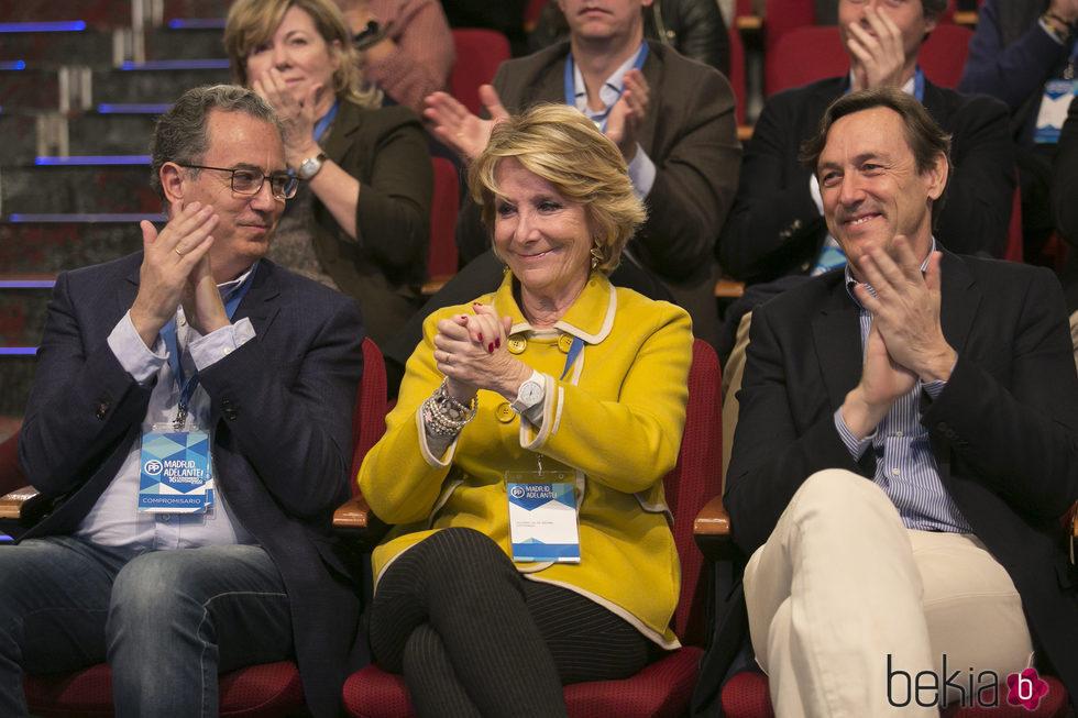 Esperanza Aguirre y Rafael Hernando en un congreso del PP de Madrid