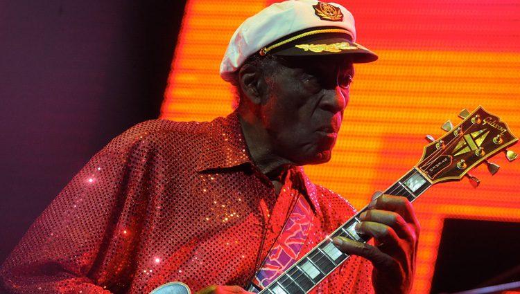 Chuck Berry actuando en Moscú