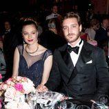 Pierre Casiraghi y Beatrice Borromeo en la cena durante el Baile de la Rosa