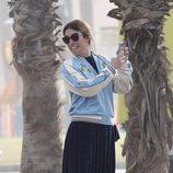 Blanca Suárez haciéndose un selfie en Máaga