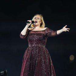 Adele durante un concierto en Sydney