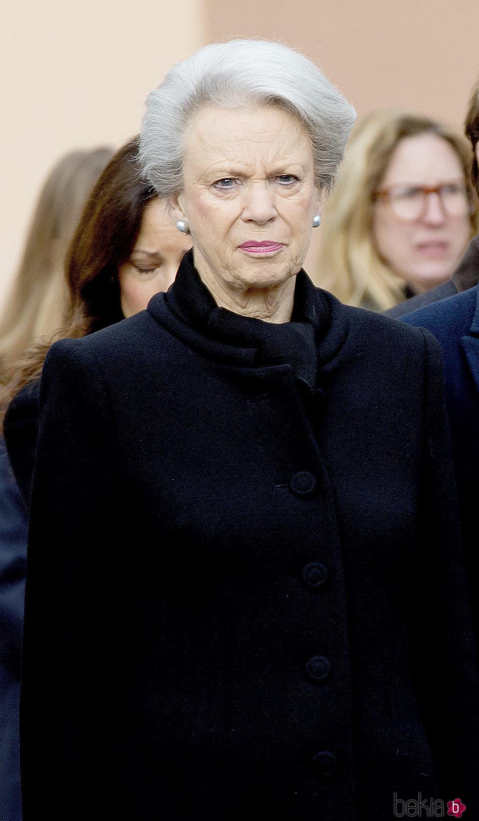 Benedicta de Dinamarca en el funeral de su esposo, el Príncipe alemán Richard zu Sayn-Wittgenstein Berleburg