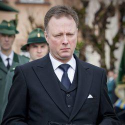 El Príncipe heredero Gustavo en el funeral del Príncipe alemán Richard zu Sayn-Wittgenstein Berleburg