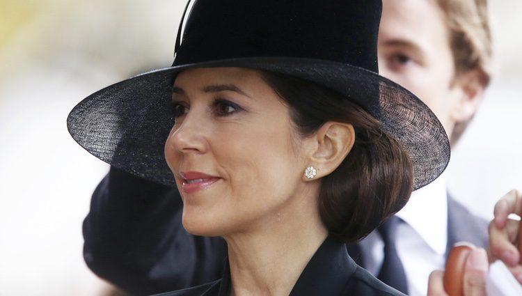 Mary de Dinamarca en el funeral del Príncipe alemán Richard zu Sayn-Wittgenstein Berleburg