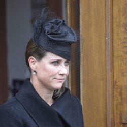 La Princesa Marta Luisa de Noruega en el funeral del Príncipe alemán Richard zu Sayn-Wittgenstein Berleburg