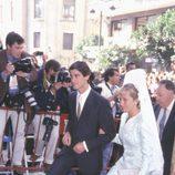 Belén Esteban y Jesulín de Ubrique en la boda de Fran Rivera y Eugenia Martínez de Irujo