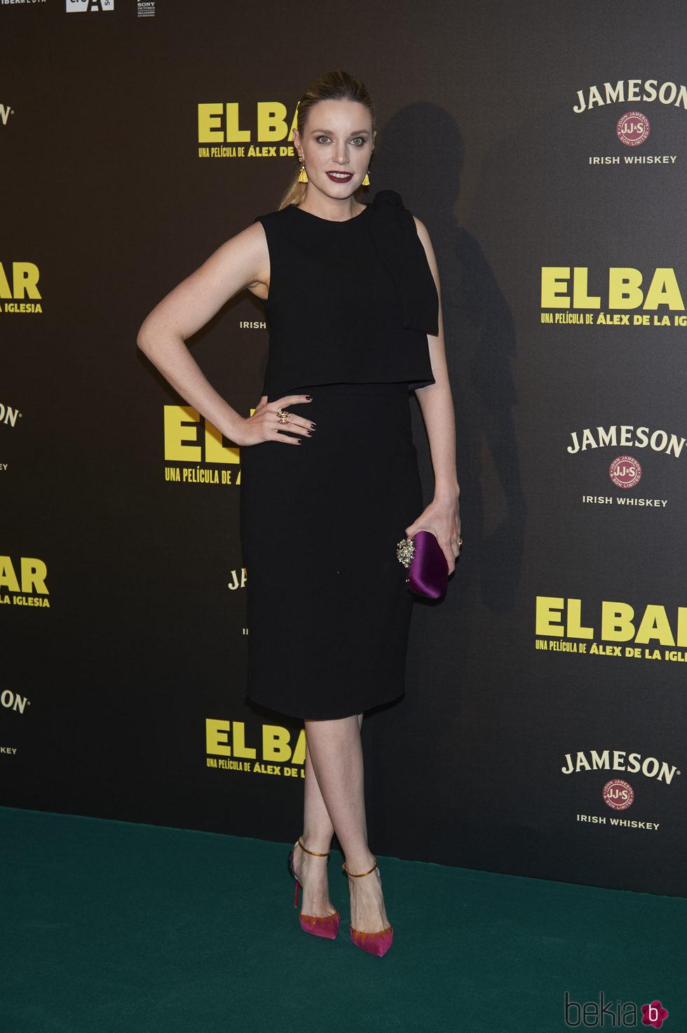 Carolina Bang en la presentación de la película 'El Bar' en los cines Callao de Madrid
