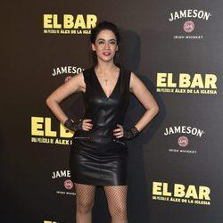 Verónica Perona en la presentación de la película 'El Bar' en los cines Callao de Madrid