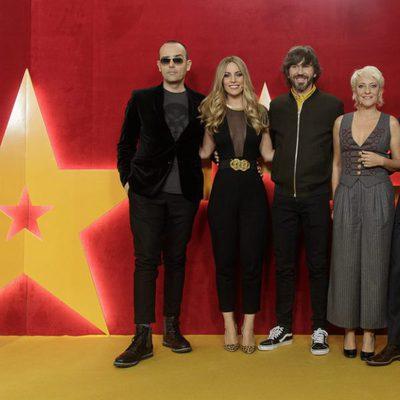 Risto Mejide, Edurne, Santi Millán, Eva Hache y Jorge Javier Vázquez en la presentación de 'Got Talent'