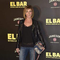Eva Isanta en la presentación de la película 'El Bar' en los cines Callao de Madrid
