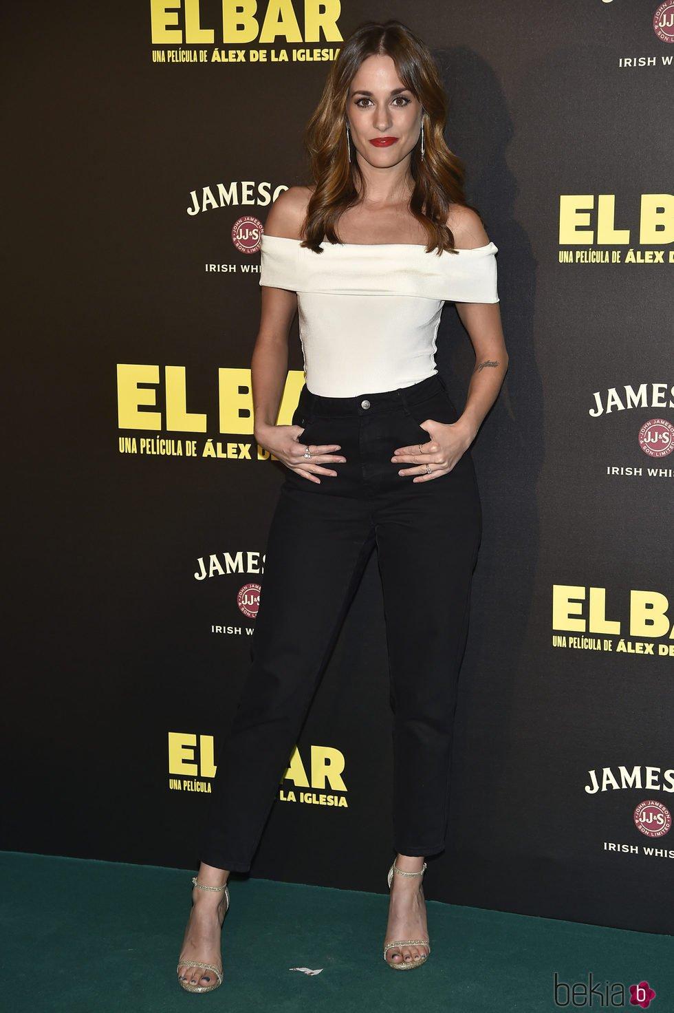 Silvia Alonso en la presentación de la película 'El Bar' en los cines Callao de Madrid