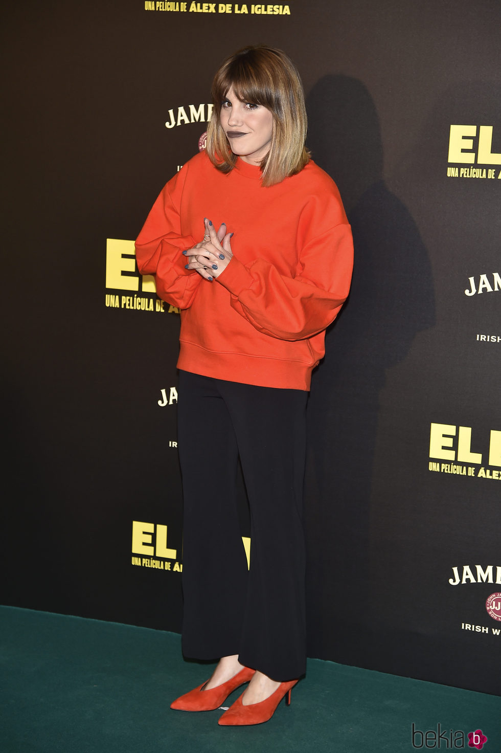 Angy Fernández en la presentación de la película 'El Bar' en los cines Callao de Madrid
