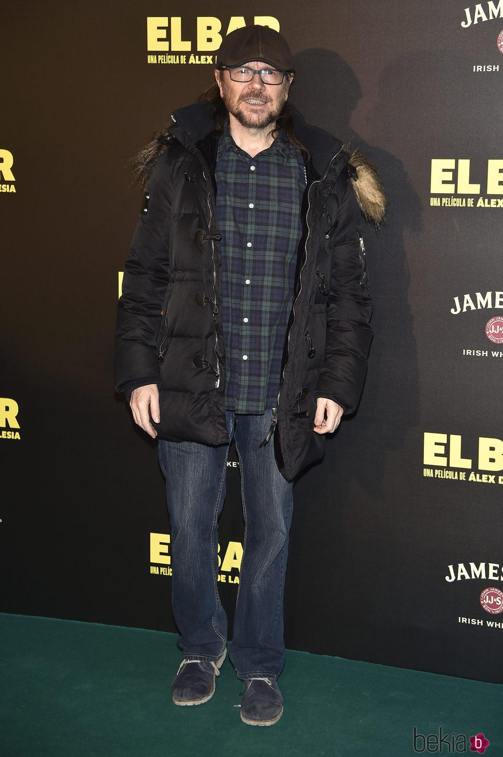 Santiago Segura en la presentación de la película 'El Bar' en los cines Callao de Madrid
