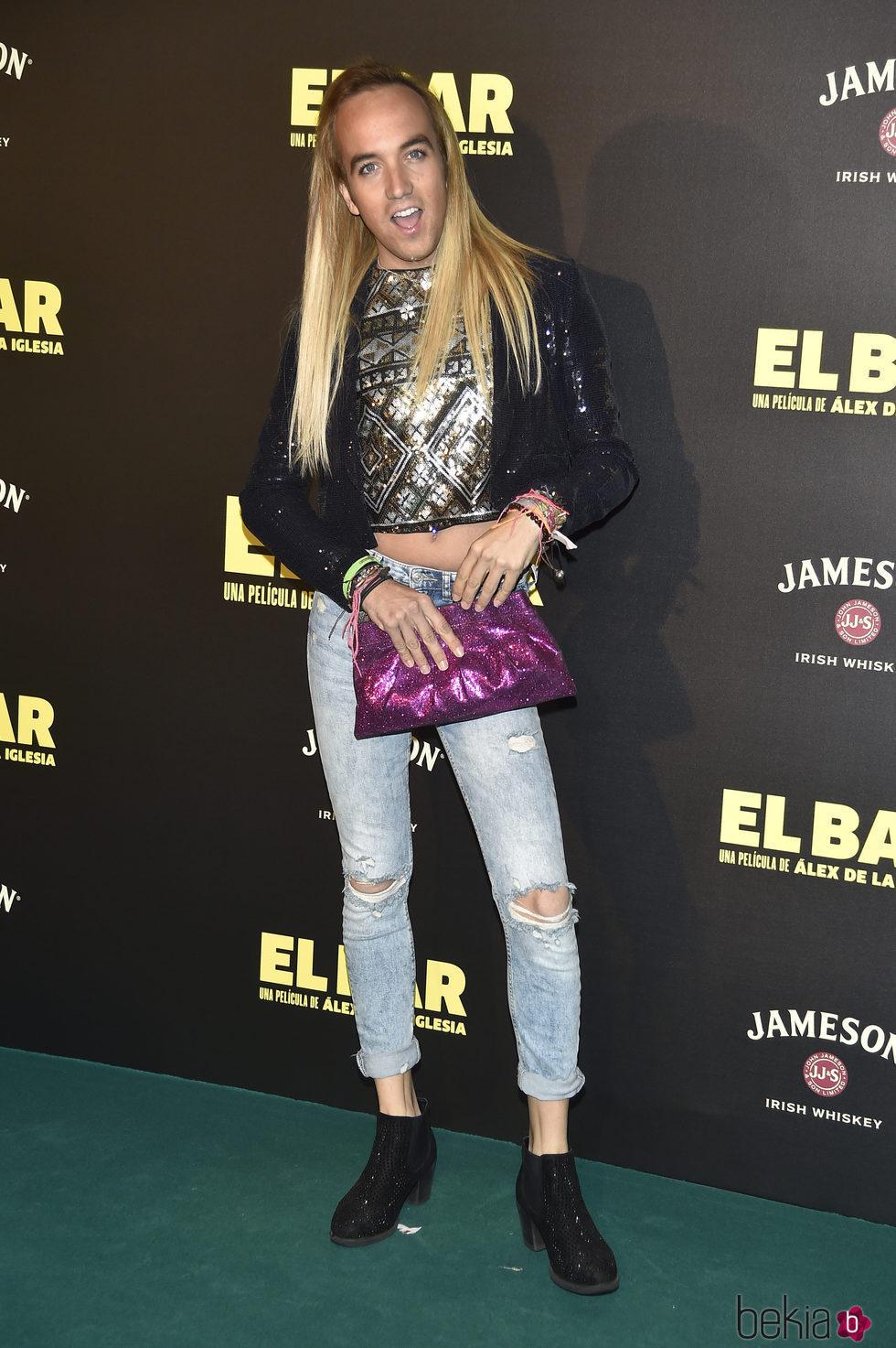 Aless Gibaja en la presentación de la película 'El Bar' en los cines Callao de Madrid