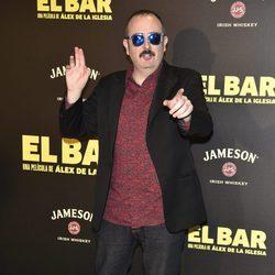 Carlos Areces en la presentación de la película 'El Bar' en los cines Callao de Madrid