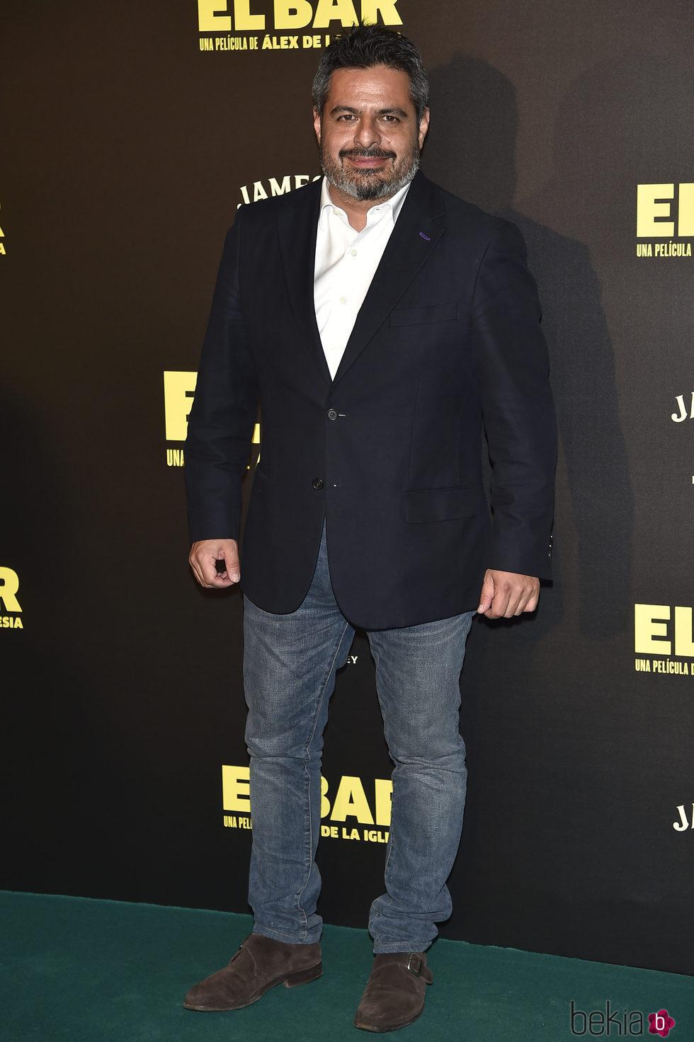 Jalís de la Serna en la presentación de la película 'El Bar' en los cines Callao de Madrid