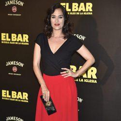 Rocío Muñoz en la presentación de la película 'El Bar' en los cines Callao de Madrid