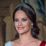 Sofia Hellqvist en un acto oficial en el Palacio Real de Estocolmo
