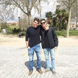 Antonio y Manoel Rafaski posando juntos en el Templo de Debod